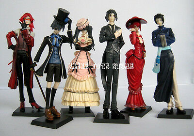 Black Butler Kuroshitsuji Ciel Japan Anime figures figurines Set of 6pc NEW