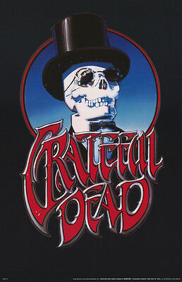 Poster-Music: Grateful Dead - Skull Tophat - Free Shipping     #p7117     Lp33 N
