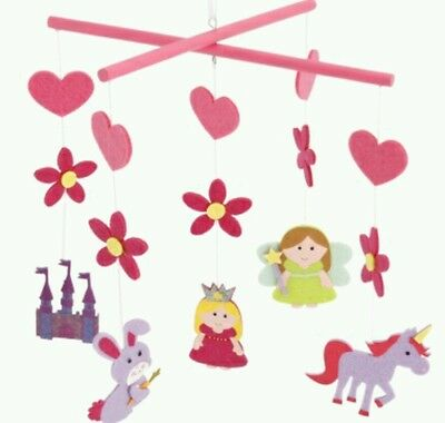 Girls Fairy Tales Felt Princess Unicorn etc Mobile.Ideal kids Bedroom playroom
