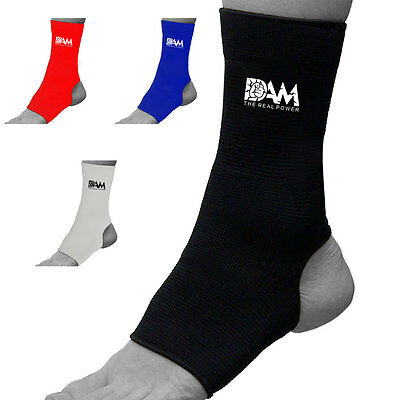 DAM 1 Pair ANKLE Foot Protection Brace Guard Sports Support Breathable Gym New