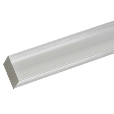 """3qty Extruded Acrylic Square Rod 1/4"""" x 6ft - Clear (Nominal)"""