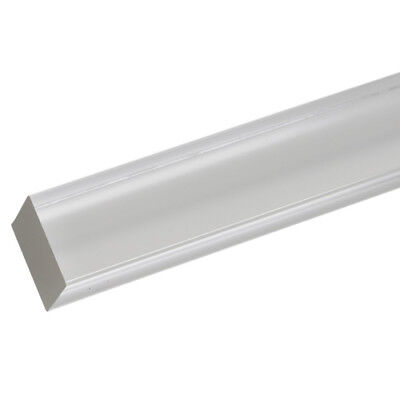 """4qty Extruded Acrylic Square Rod 3/8"""" x 6ft - Clear (Nominal)"""