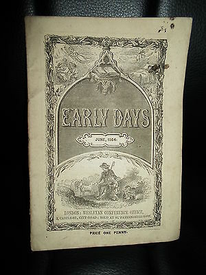 "ANTIQUE RARE ~ June 1864 - Early Days or Weslayan Scholars Guide (4.5"" x 6.5"")"
