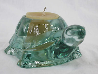 Indiana Glass Spanish Green Turtle Votive Candle Holder
