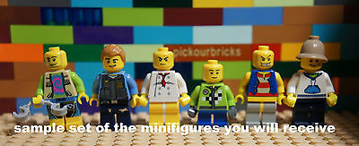 LEGO Assorted Characters Mix Six (6) MINIFIGURES Bulk Lot - Special Offer- NEW