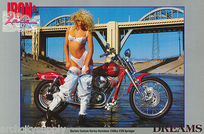 Poster : Dreams - Iron & Lace - Bartels Custom Harley  - Free Shipping ! Lw21 E