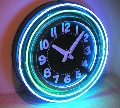 10 pcs large neon clock  and sign glass housings #100 signs sockets 1 3//4 hole