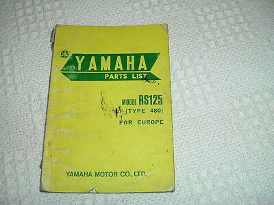 Yamaha Rs125 (480)  Factory Parts Book