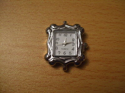 Tibetan silver square swirl watch face blank beading