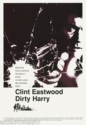 Poster : Movie Repro : Dirty Harry - Clint Eastwood - Free Shipping ! Lc11 P