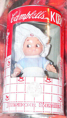 """6"""" Campbell's Kid Junior Series Horsman doll with chef hat c.1998 un-opened"""