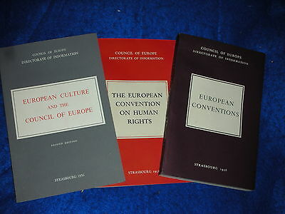 1952-1956 THE EUROPEAN CONVENTIONS on HUMAN RIGHTS strasbourg COUNCIL of EUROPE