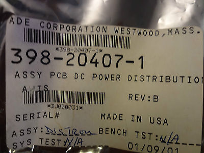 ADE 398--20407-1 Assy PCB DC Power Distribution for AWIS