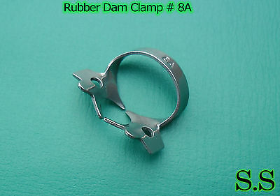 6 Endodontic Rubber Dam Clamp #8A Surgical Dental Instruments