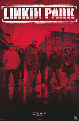 Poster :music : Linkin Park  - Group Posed - Red - Free Shipping ! #7602  Rc11 E