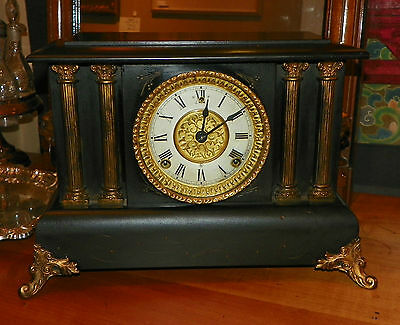 Junghans secessionist deco steampunk style mantle clock circa 1900 - Steampunk mantle clock ...