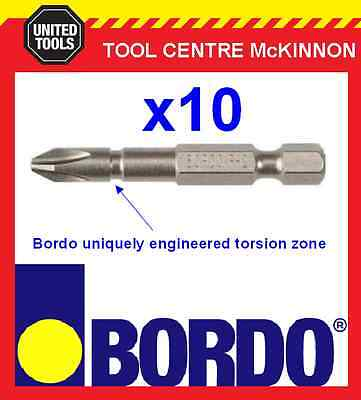10 x BORDO IMPACT PH2 X 50mm POWER INSERT BITS – GEAT FOR IMPACT DRIVERS!