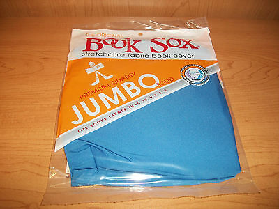 """The Original Book Sox Stretchable Fabric Book Cover - Jumbo 10"""" H x 8"""" W BLUE"""