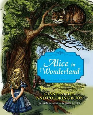 Alice in Wonderland Giant Poster and Coloring Book by John Tenniel (English) Fre