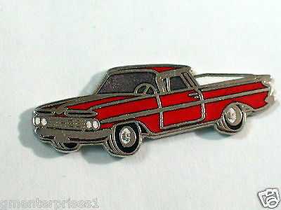 1959 El Camino Pin Badge Auto Pins (lg) (red)