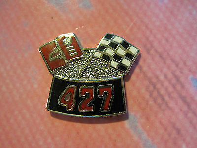 427 CHEVY flags  - Hat pin, lapel pin, tie tac, hatpin