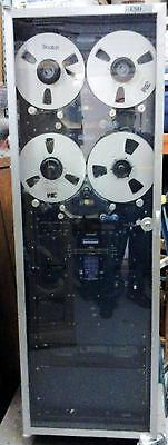 2 STANCIL VOICE RECORDERS MOUNTED IN RACK WITH JVC CASSETTE RECORDER RECORDING