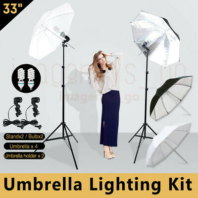 Photography Photo Umbrella Video Continu Light Lighting Stand Kit Shooting New