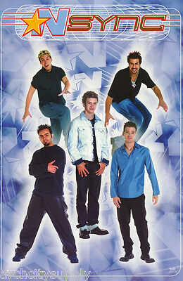 Poster : Music : N Sync Group - Hanging -     Free Ship #7562   Lc23 F