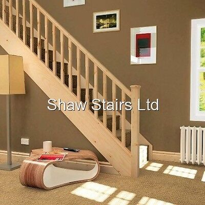 Staircase Refurbishment Pack - Pine Handrails, Baserail & 32mm Spindles