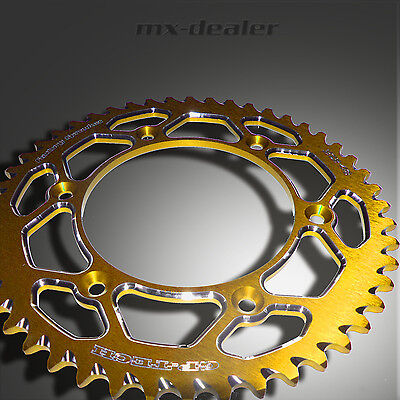 GP-TECH Factory Sprocket Kettenrad gelb Suzuki RM RMZ 125 250 450 48 49 50 51 Z