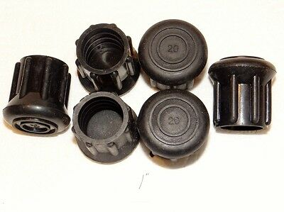 "(6) New 1"" Heavy Rubber Cane Tips For Walking Sticks, Crutches, & Walkers"