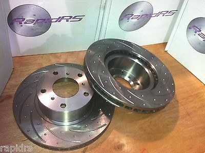 Ford Ba Bf Fg Slotted Disc Brake Rotors Ultimate Performance Front Pair