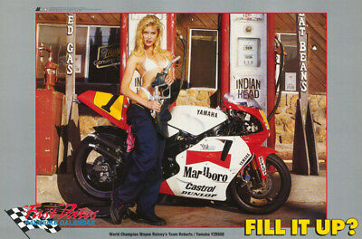 Poster : Fill It Up ?  -  Fast Dates Race Bike Calendar- Free Shipping ! Lw20 F