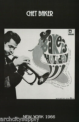 Poster : Music :jazz : Chet Baker - Baker's Holiday - Free Shipping !  Lc26 N