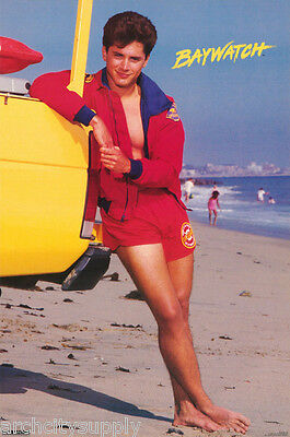Poster:tv Actor: Baywatch - Billy Warlock - Free Shipping     #120    Lc28 U