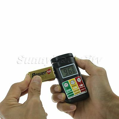Digital Battery Tester Checker AA AAA C D 9V Button LCD Perfect Companion New