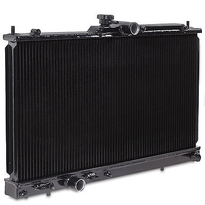 40Mm Black Edition Alloy Race Radiator Rad For Mitsubishi Evo 7 8 9 Vii Viii Ix