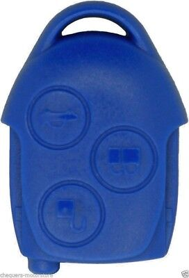 Fits Ford Transit Connect 3 Button Blue Remote Key Fob Case repair Shell