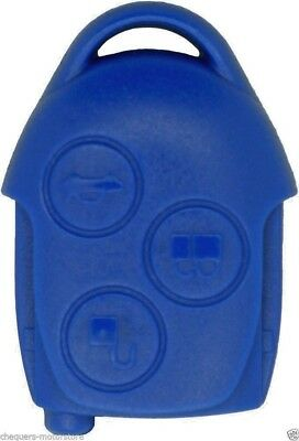 Ford Transit Connect 3 Button Blue Remote Key Fob Case repair Shell