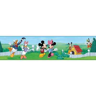 New MICKEY MOUSE Peel & Stick Wall Border Baby Nursery Kids Room Wallpaper Decor