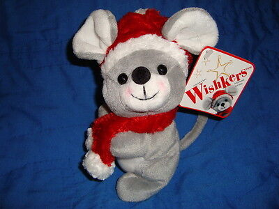 Sears 2001 Christmas Mouse WISHKERS  W/tags Plush & Beans