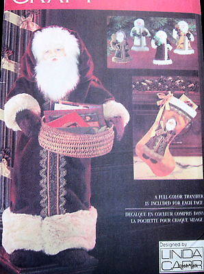 "Vogue Christmas Pattern Linda Carr greeter doll 28"" ornament santa stocking 8735"