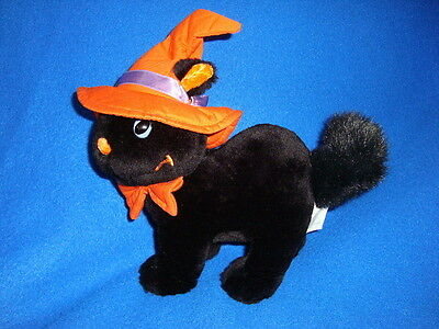 Sears Exclusive Halloween Plush Black Cat 7""
