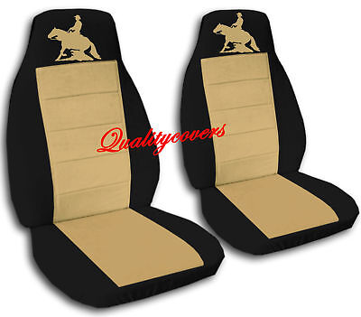 REINING HORSE DESIGN FRONT SET CAR SEAT COVERS JEEP WRANGLER