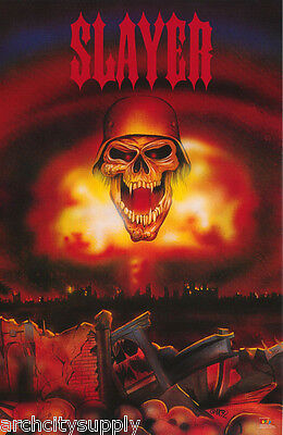 POSTER : MUSIC : SLAYER - SKULL WITH HELMET  - FREE SHIPPING!  RW12 i