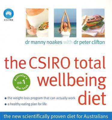 The CSIRO Total Wellbeing Diet by Peter Clifton Paperback Book Free Shipping!