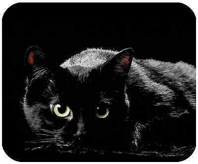Mouse Pad Custom Personalized Thick Mousepad-Black Cat - Add Any Text Free