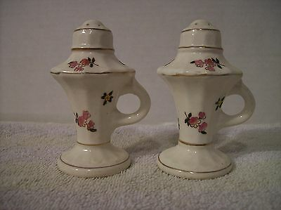 1947 Floral Salt and Pepper Shakers-Made in Japan