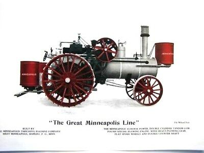 """1910 """"The Great Minneapolis Line""""45 H.P. Double Cylinder Tandem Compound Tractor"""