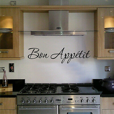 Wall Art Sticker Quote Kitchen Bon Appetit Family Dining Home Decor Decal Phrase